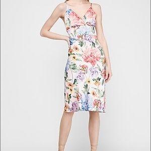 Satin slip floral dress